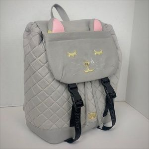 Betsey Johnson Quilted Kitty Cat Large Backpack